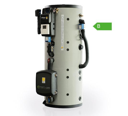 EXPRESSINO Kompaktspeicher für Dachheizzentralen