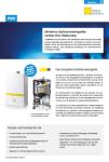 Produktinfoblatt PMI Gasheizung